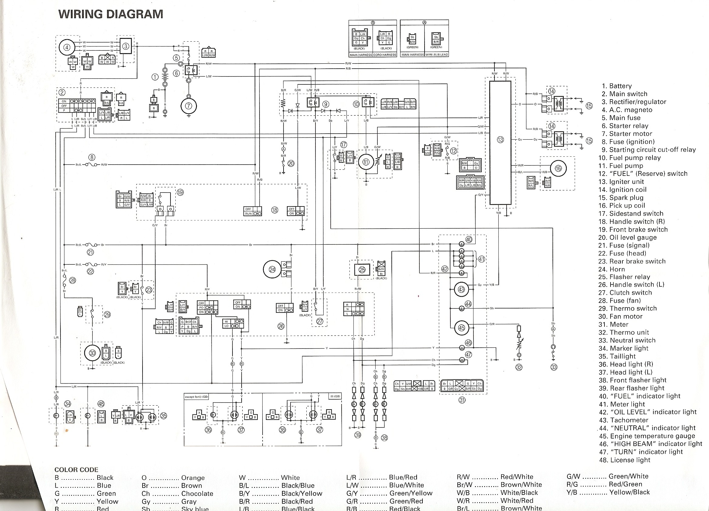 yamaha fzr 600 engine diagram. yamaha. free wiring diagrams, Wiring diagram